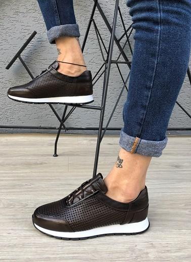 MARTINETTO Hakiki Deri Sneaker Kahve